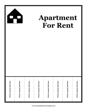Apartment For Rent Flyer Printable Template