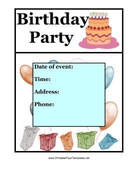 Printable birthday flyers bing images for Free printable event flyer templates