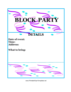 create free party flyers online