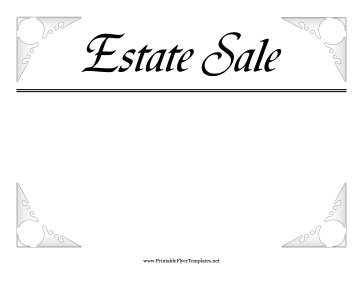 estate sale flyer template