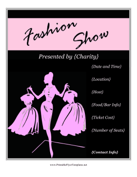Fashion show flyer for Fashion flyers templates for free