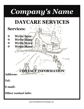 Printable daycare flyer template