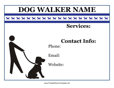 flyer for dog walker a fun dog walking flyer like this is sure to get ...
