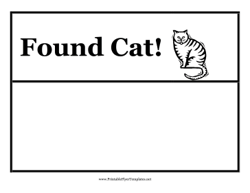Found Cat Flyer Printable Template