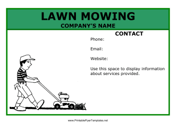 Lawn Mowing Flyer Printable Template