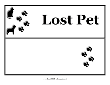 missing pet template