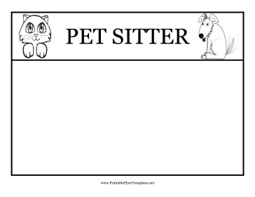 pet sitting templates
