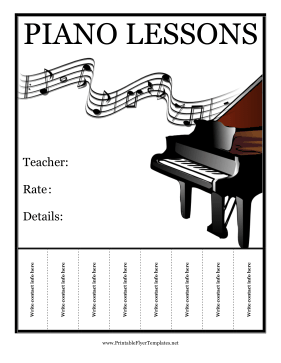 piano lessons flyer. Black Bedroom Furniture Sets. Home Design Ideas