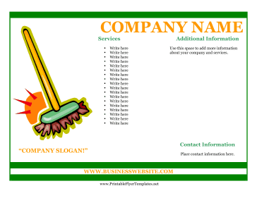 Sample Flyer For Cleaning Business Printable Template