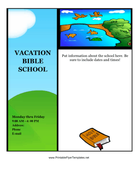 Vacation Bible School Flyer Printable Template
