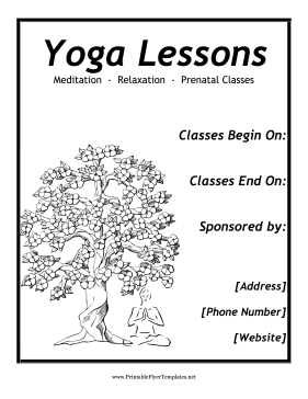 Yoga flyer for Yoga brochure templates free