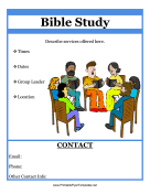 Bible Study Flyer Printable Template
