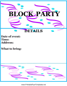 Party and event flyers for Block party template flyers free