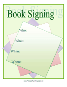 Party and event flyers for Book signing poster template