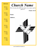 Church Flyer Printable Template