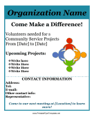 Community Service Flyer Printable Template