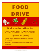 Food Drive Flyer Printable Template