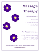 Massage Flyer Printable Template