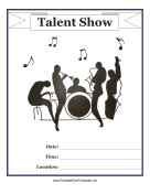 Talent Show Flyer Printable Template
